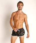 LASC Nylon Running Shorts Black, view 2