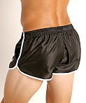 LASC Nylon Running Shorts Black, view 4