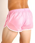 LASC Nylon Running Shorts Pink, view 4