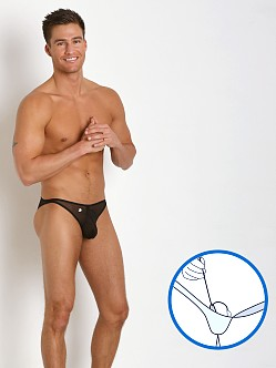 Joe Snyder MaxiBulge C-Ring Bikini Black Mesh