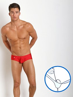 Joe Snyder MaxiBulge C-Ring Cheek Trunk Red