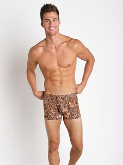 Male Power Leopard Pouch Short