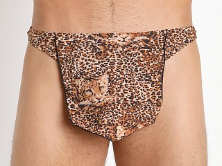 Male Power Leopard Tarzan Thong Brown Leopard