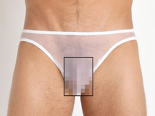 Male Power Sheer Tricot Mesh Classic Men's Bikini White
