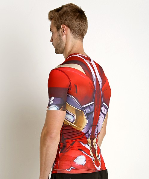 Under Armour Iron Man Suit Compression Shirt Cardinal