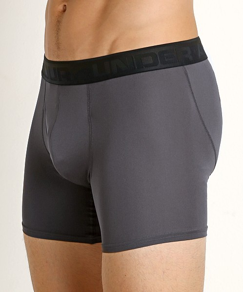 "Under Armour Microthread 6"" Boxerjock Charcoal"