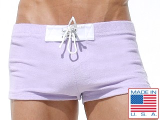 Rufskin Charles Loop Terry Lace Tabs Swim Trunk Lavender