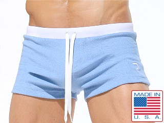 Rufkin Dean Loop Terry Swim Trunk Light Blue