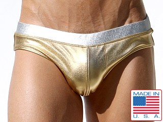 Rufskin Senequier Euro Cut Metallic Swim Brief Gold/Silver