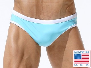 Rufskin Antibes Contrast Swim Brief Aqua/White