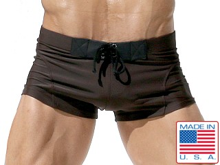 Rufskin Vallauris Lace Tabs Short Swim Trunk Chocolate