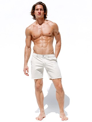 Rufskin Reno Pre-Shrunk 100% Cotton Twill Shorts Ivory