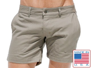 Rufskin Caswell Pre-Shrunk Cotton Twill Shorts Olive