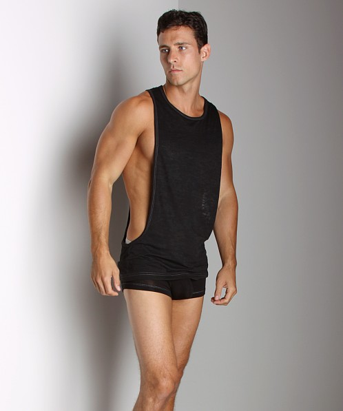 Andrew Christian Skinny Gym Tank Top Black