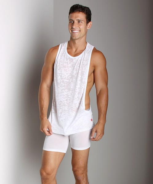Andrew Christian Skinny Gym Tank Top White