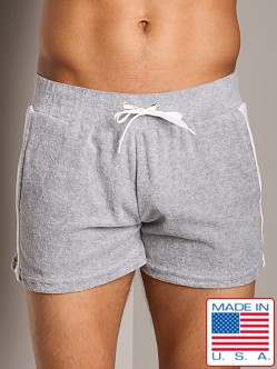 American Jock Lounge Short Heather Grey