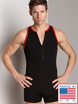 American Jock Step-in Singlet Black