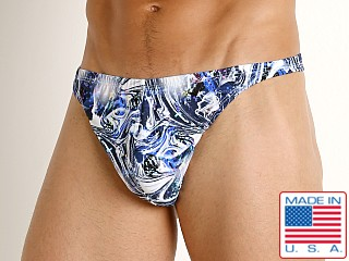 Model in distortion LASC Brazil Swim Thong