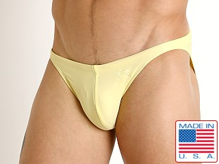 Model in butter LASC Super Low Rise Swim Brief