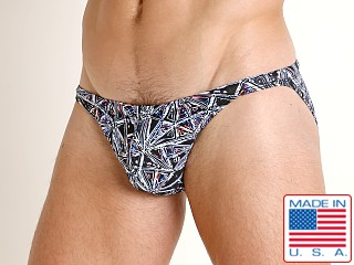Model in prism print LASC Super Low Rise Swim Brief Prism