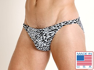 LASC Super Low Rise Swim Brief Snow Leopard