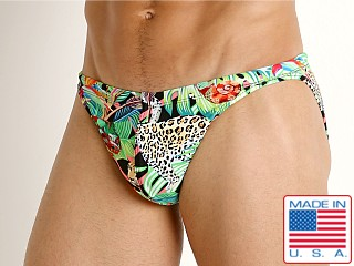 LASC Super Low Rise Swim Brief Jungle Leopard