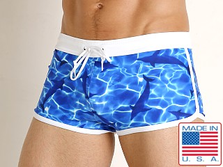 LASC American Square Cut Swim Trunks Dolphins