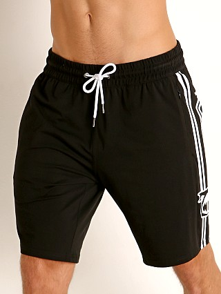 Model in black Nasty Pig Pushback Short