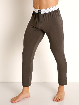 Model in charcoal 2EROS Core Lounge Pants
