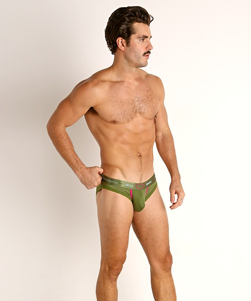 2EROS Aeolus Mesh Brief Green Gale