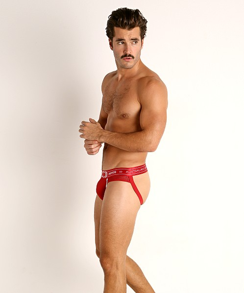 2EROS Apollo Mesh Panel Jockstrap Solar Red