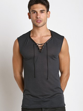 Gregg Homme Highrise Honeycomb Mesh Muscle Shirt Grey