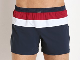 JM Waves Classic Loose Lycra Swim Trunk Cherry Red