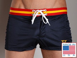 LASC Varsity Nylon Mesh Swim Trunks Navy