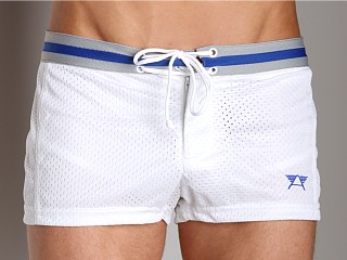 Complete the look: LASC Varsity Nylon Mesh Swim Trunks White