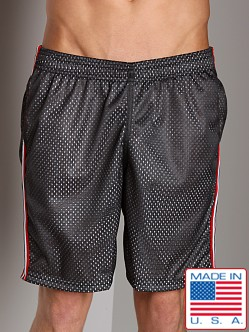 LASC Athletic Mesh Workout Short Black