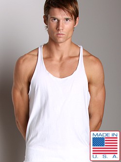 LASC Sixties String Tank Top White