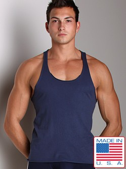 LASC Sixties String Tank Top Navy
