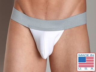 Activeman 3-D Pouch Jockstrap Grey/White