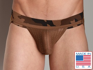 Activeman Camouflage Jockstrap Brown