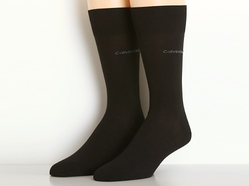 Calvin Klein Egyptian Cotton Crew Dress Socks Black