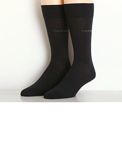 Calvin Klein Egyptian Cotton Crew Dress Socks Navy