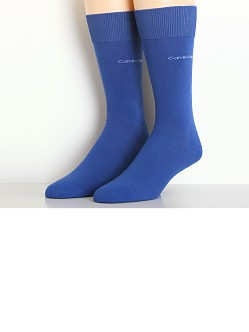 Calvin Klein Egyptian Cotton Crew Dress Socks Royal