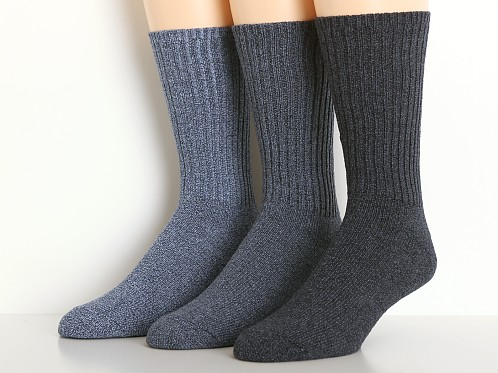 Calvin Klein Casual Rib Socks 3-Pack Assorted Colors Grey