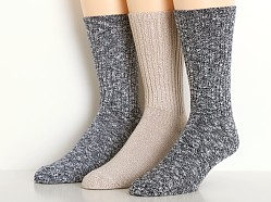 Calvin Klein Casual Rib Socks 3-Pack Assorted Navy Stone Black