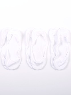 Calvin Klein Low Cut No Slip Peds 3-Pack White