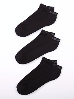 Calvin Klein Cotton/Bamboo Basic Sport Ped 3-Pack Black