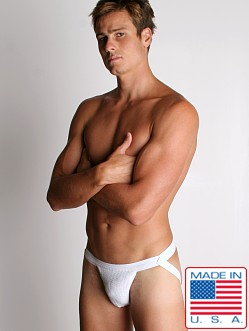 ActiveMan Swimmer Jockstrap White