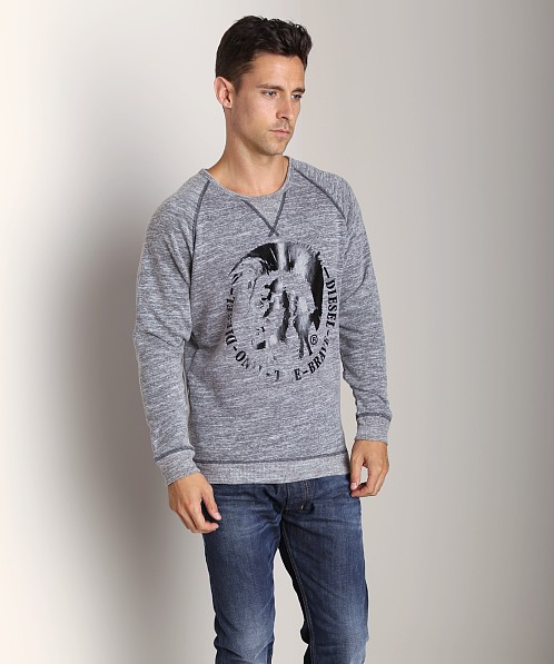 Diesel Scaae-R French Therry Sweat Shirt Charcoal