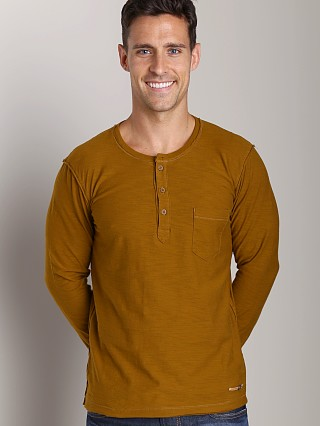 Diesel T-Canopy-RS Reversed Slub Jersey Henley Deep Wood